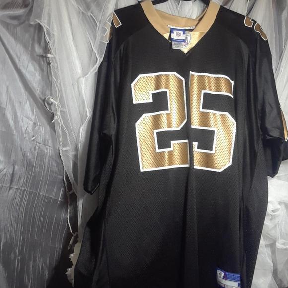 ba3a4ce3f6e Reebok NFL Equipment Shoes   Reggie Bush 25 Nfl New Orleans Saints ...